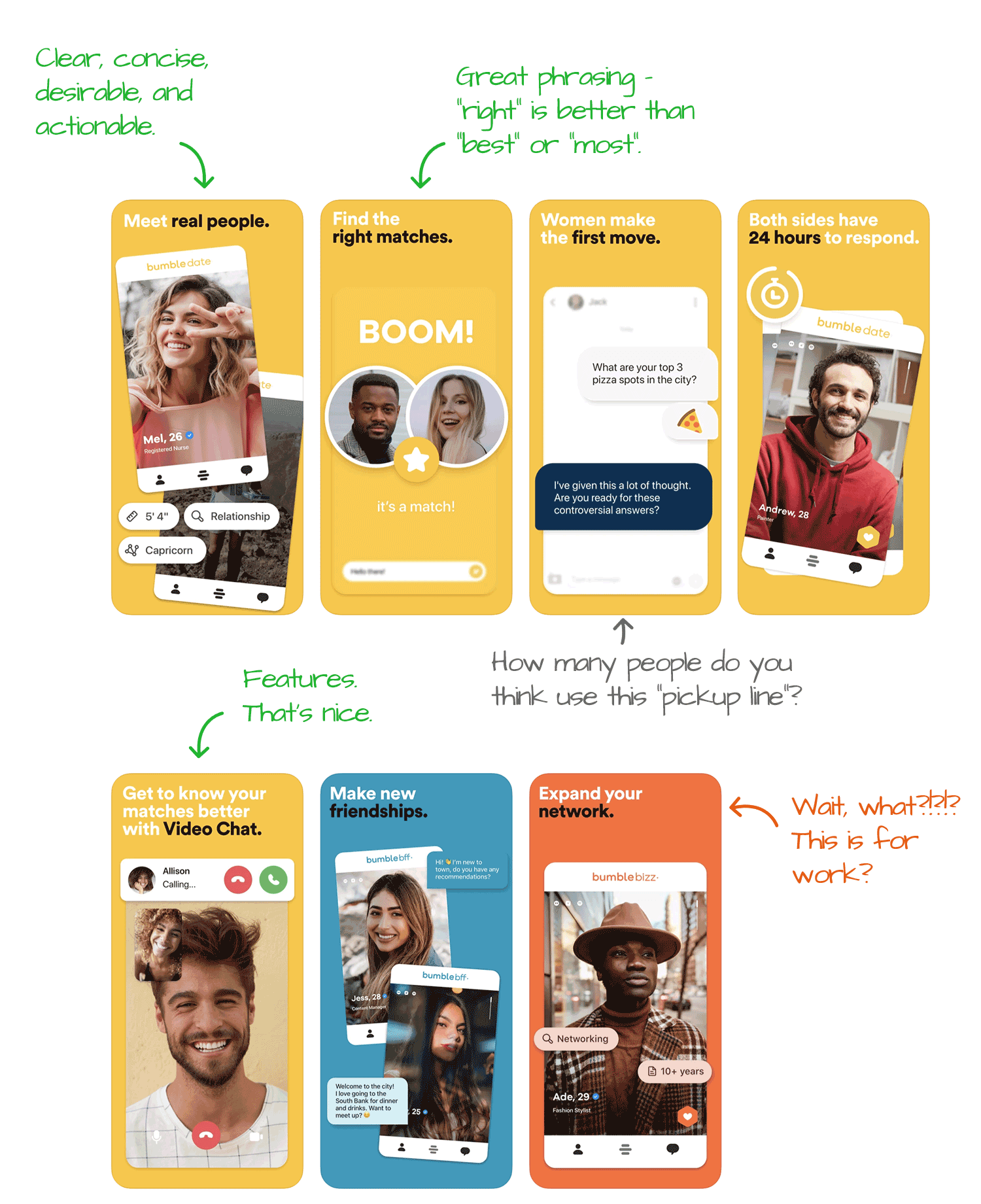 Bumble for iOS Screenshot Analysis by Appfigures