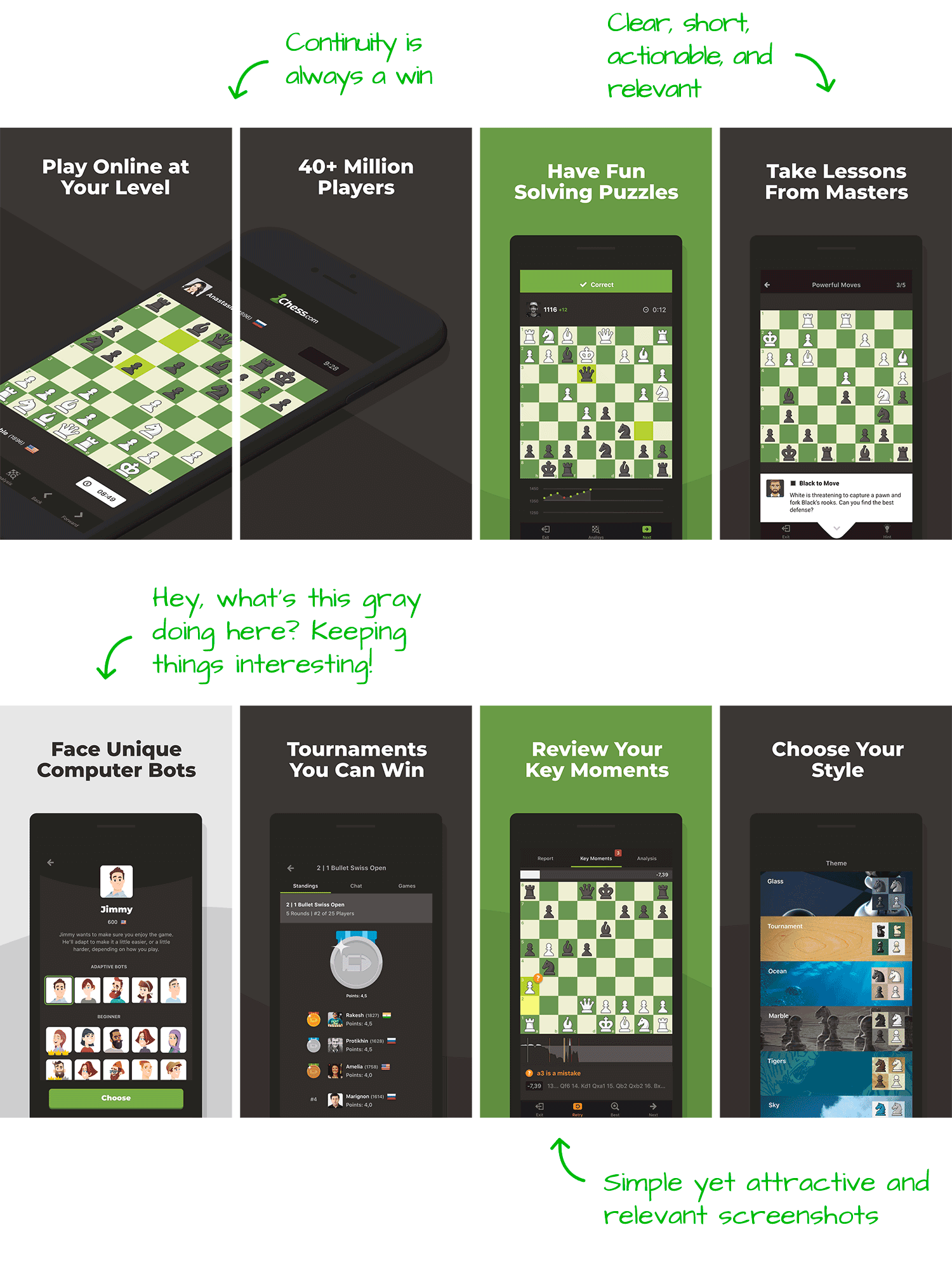 Chess.com for Android Screenshot Analysis