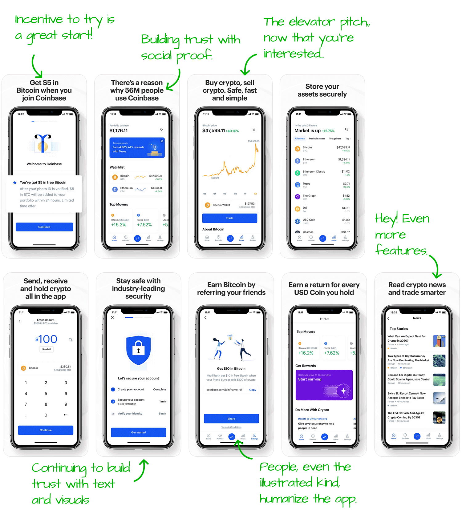 Coinbase for iOS Screenshot Analysis by Appfigures