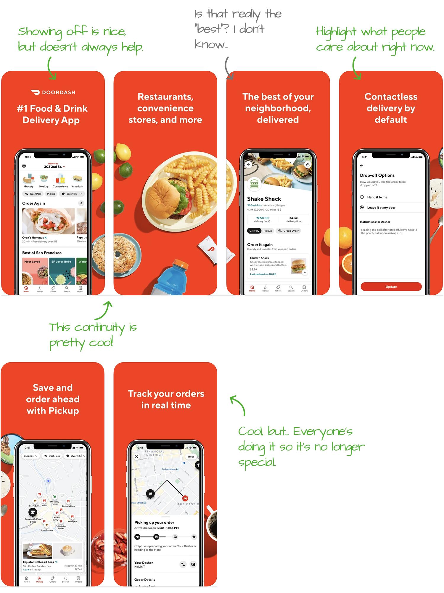 DoorDash for iOS Screenshot Analysis by Appfigures