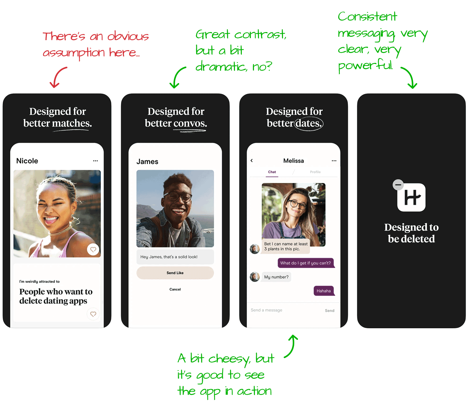 Hinge for iOS Screenshot Analysis by Appfigures