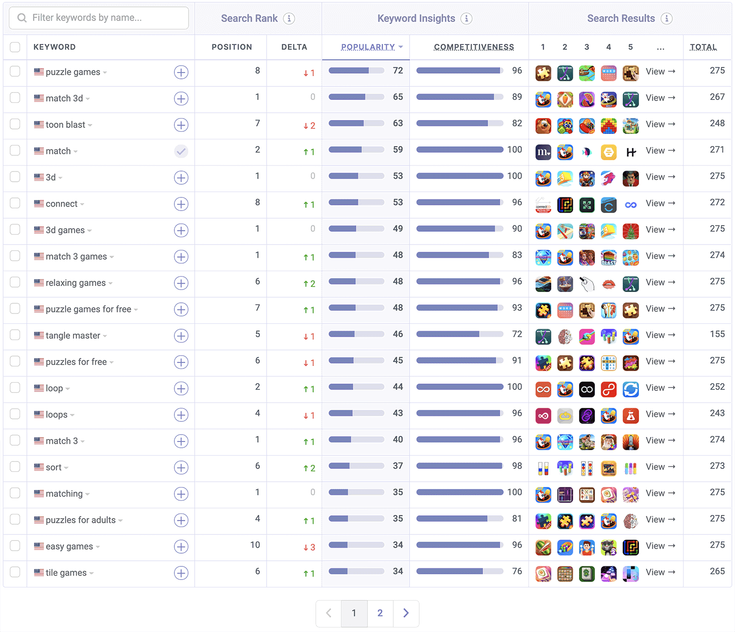 Match 3D is ranked on the App Store by Appfigures