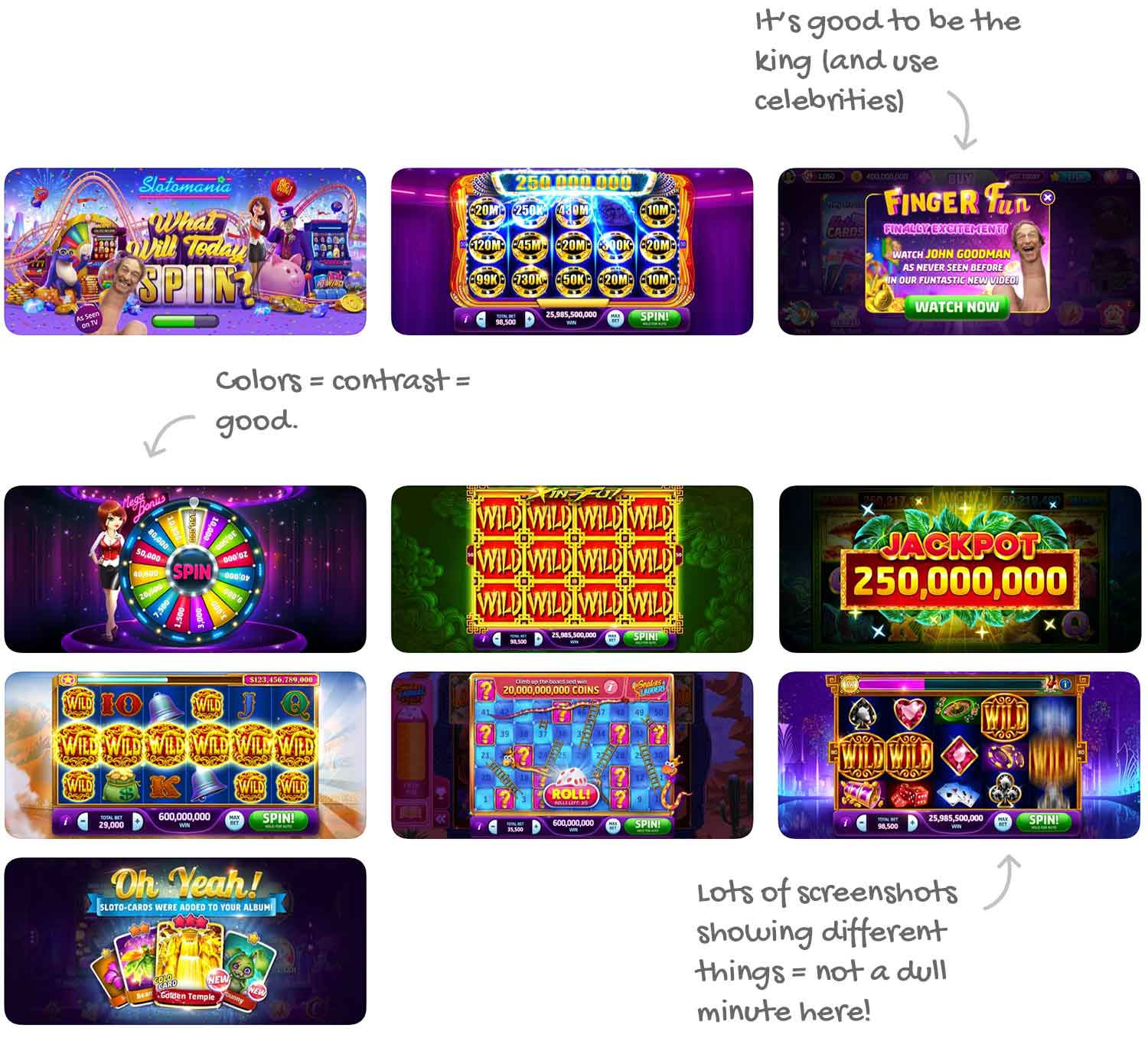 Slotomania™ Vegas Casino Slots for iOS Screenshot Analysis by Appfigures