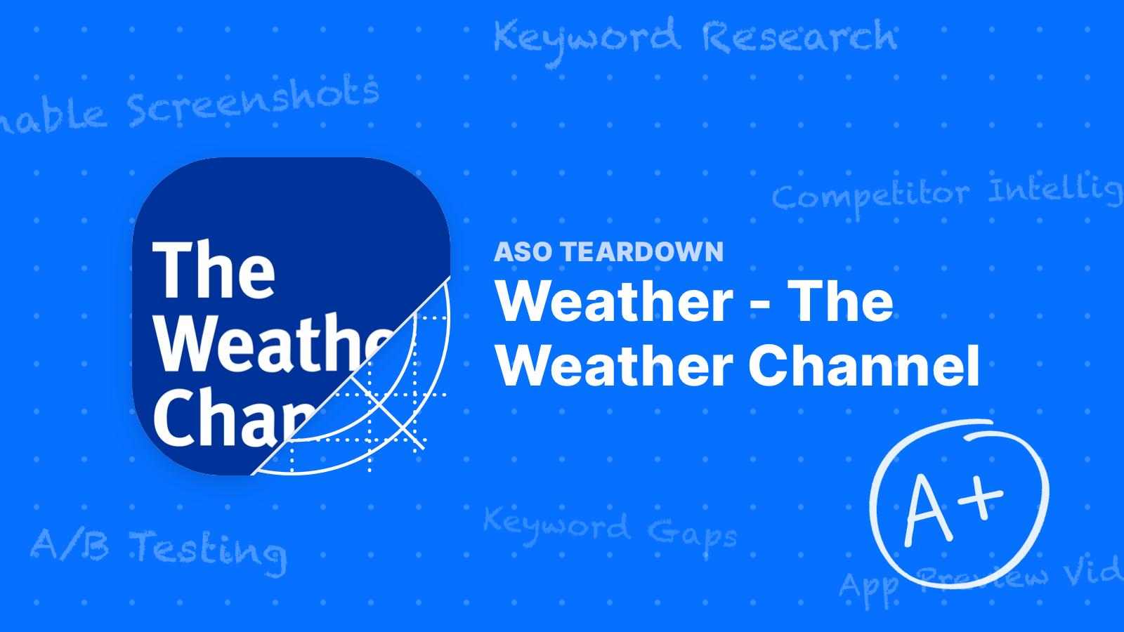 App Teardown: The Weather Channel is #1 for a Reason!