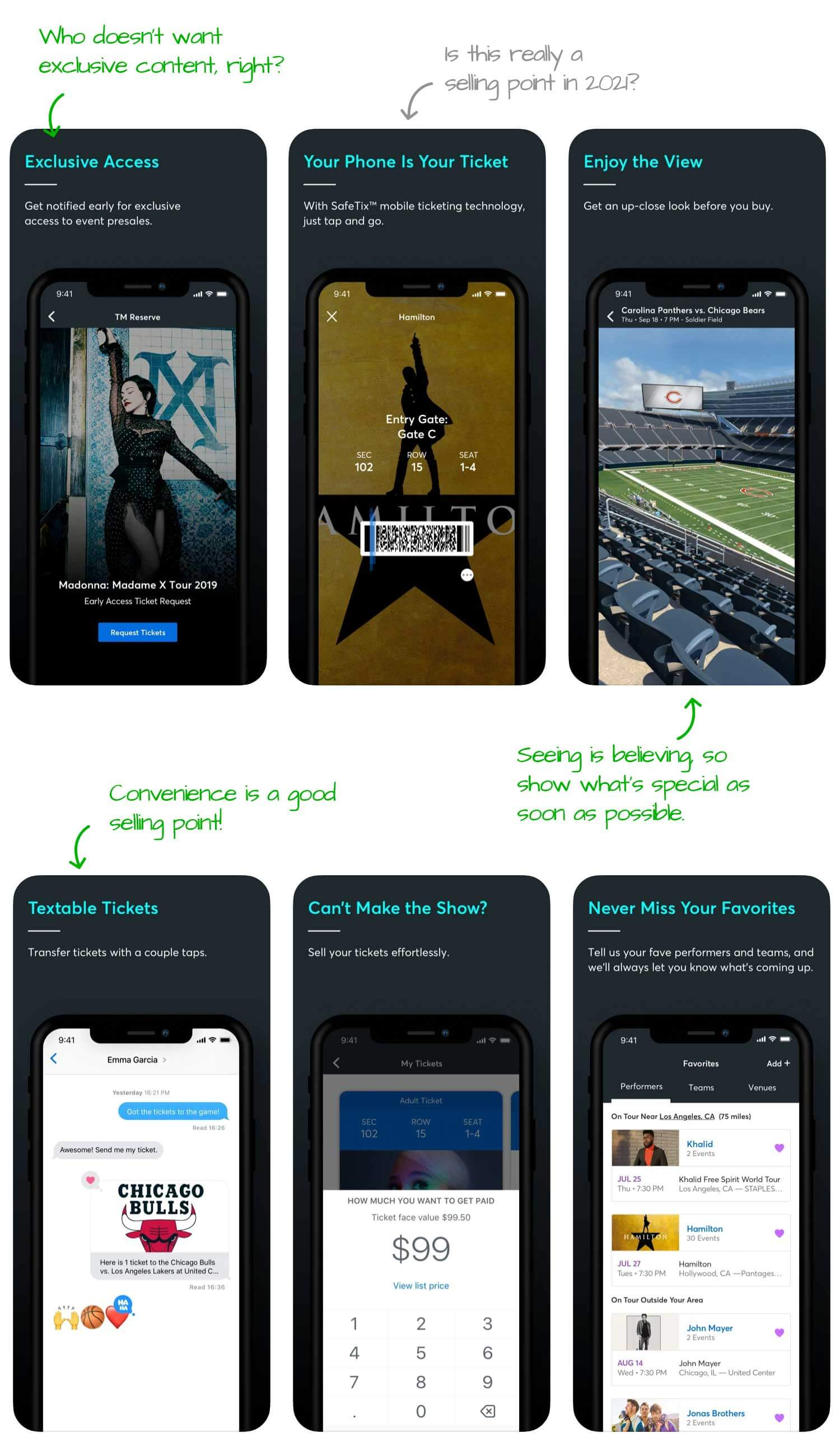 Ticketmaster for iOS Screenshot Analysis by Appfigures