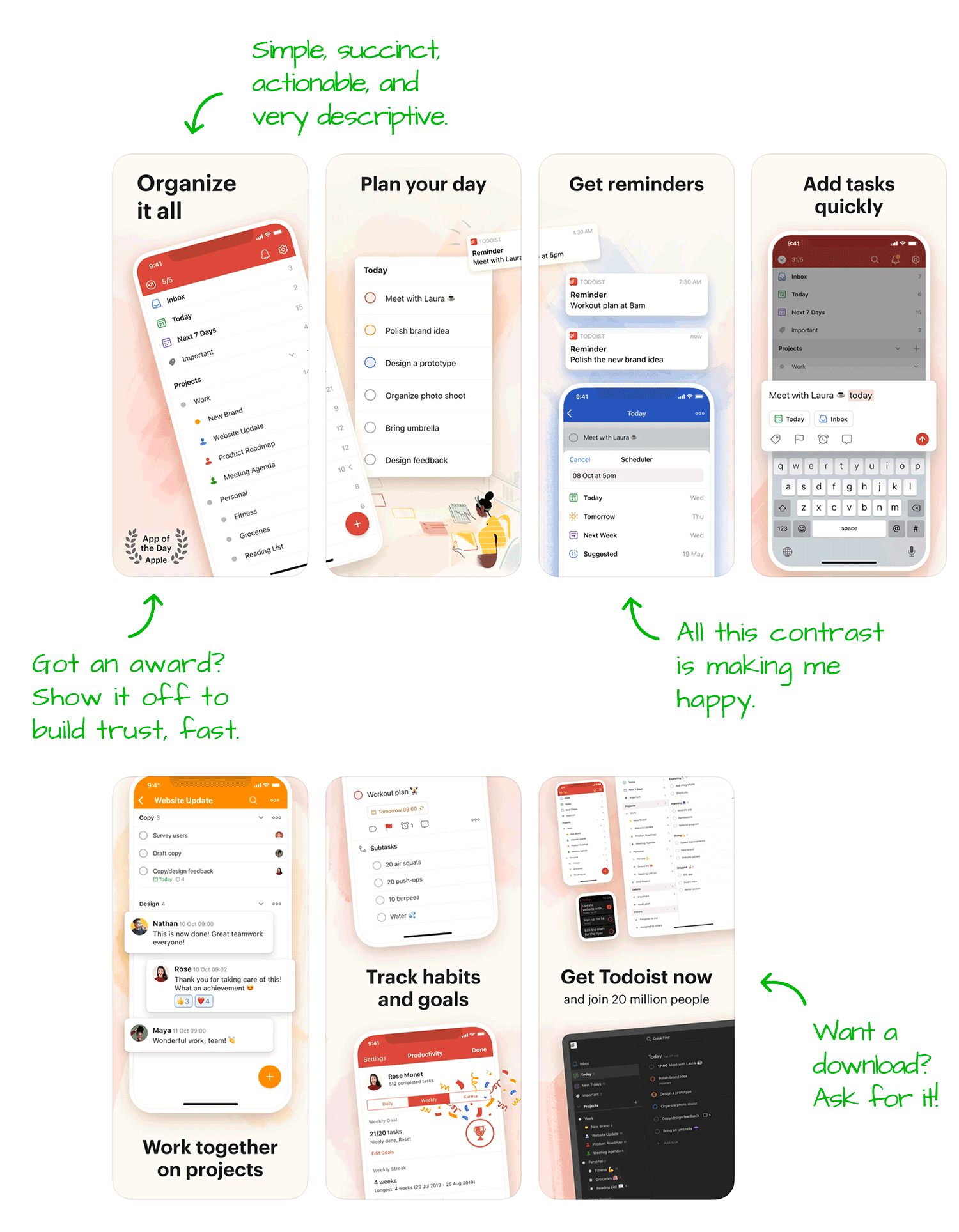 Todoist for iOS Screenshot Analysis by Appfigures