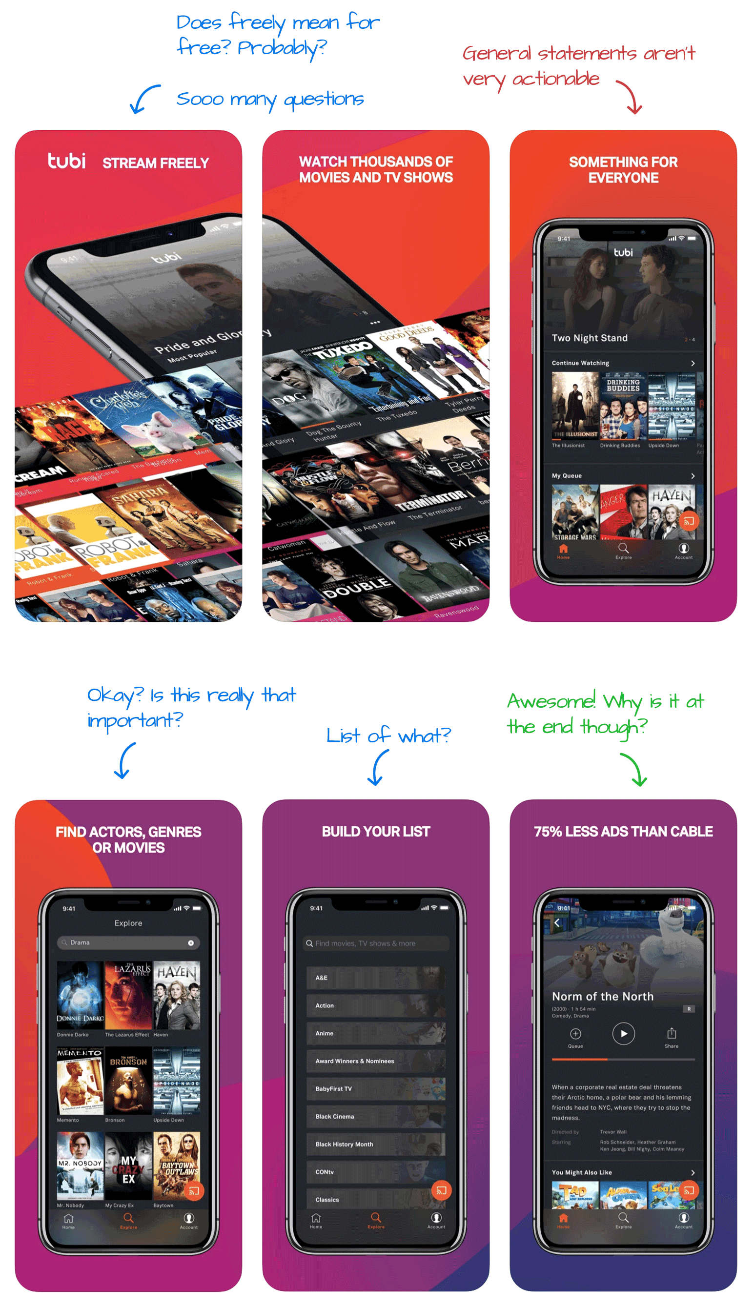 Tubi for iOS Screenshot Analysis by Appfigures