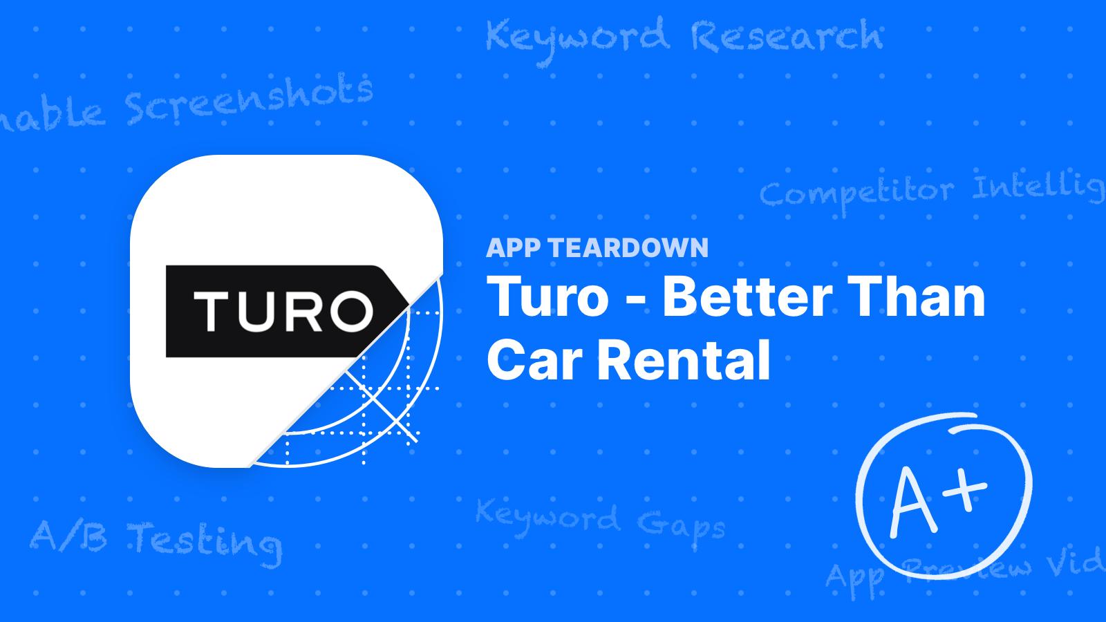 App Teardown - Turo Wins the Car Rental Game