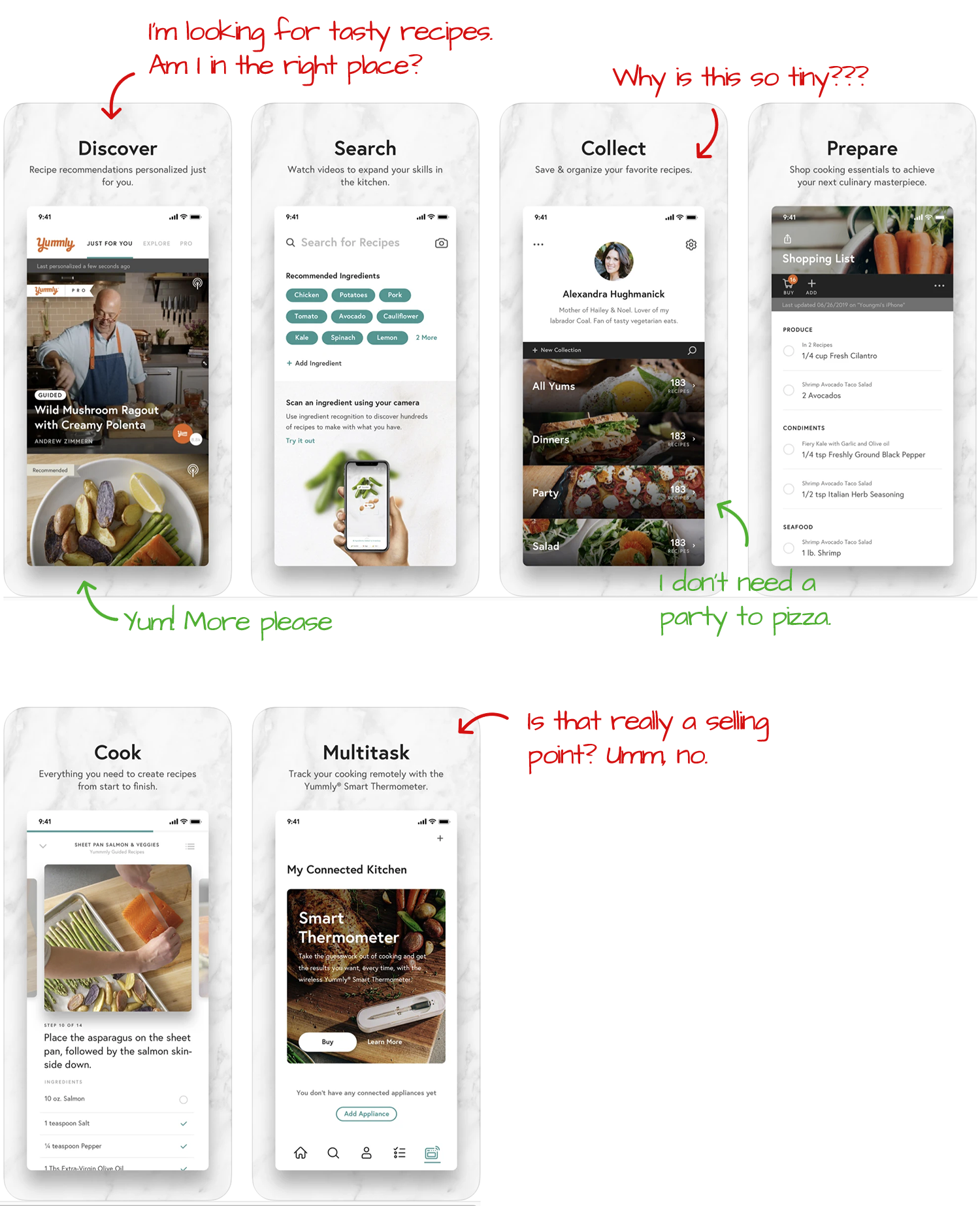 Yummly for iOS Screenshot Analysis by Appfigures