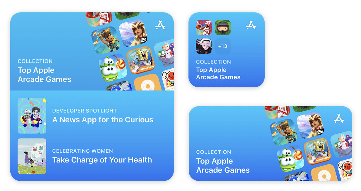 The new App Store wideget in iOS 15