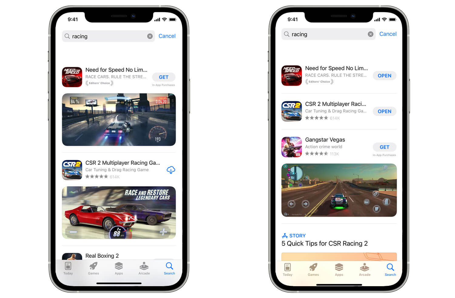 iOS 15 brings more search results to the App Store